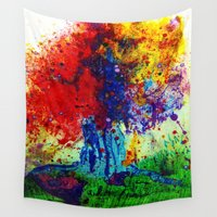 prism Wall Tapestries featuring prism tree by Flint Fireflies