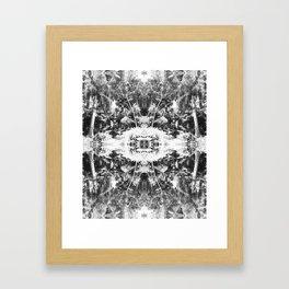 Black n White Boho Pattern Framed Art Print