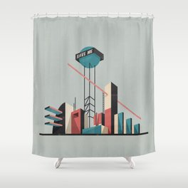 Save me city Shower Curtain