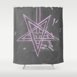 Unholy in Pink Sigil Shower Curtain