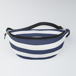 Nautical Navy Blue and White Stripes Fanny Pack