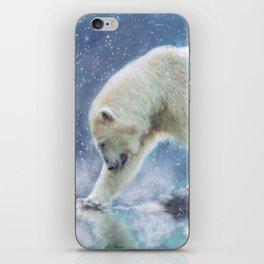 A polar bear at the water iPhone Skin