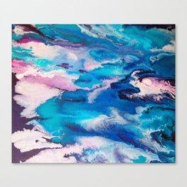 Turuoise Flow Canvas Print