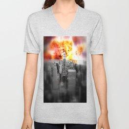 New York on Fire Unisex V-Neck