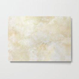 Grunge beige watercolor marble background Metal Print