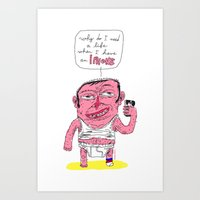 and it's a phone too ? Art Print