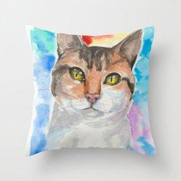 A Cat's eyes Throw Pillow