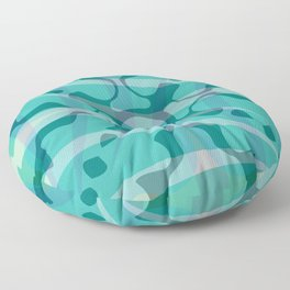 Green blue soft yellow pattern design Floor Pillow