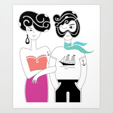Summer in love Art Print