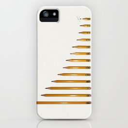Life of a pencil iPhone Case