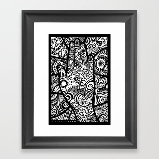 The hand of righteousness Framed Art Print