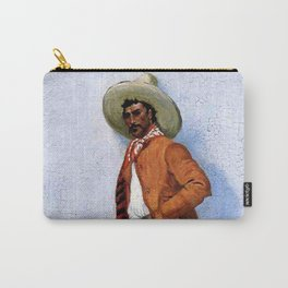 """Frederic Remington Western Art """"A Vaquero"""" Carry-All Pouch"""