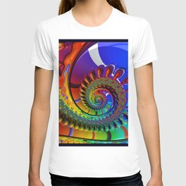 SPIRAL, RAINBOW, fractals by Alice Kelly, prints, gifts and decor  T-shirt