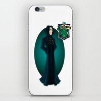 snape iPhone & iPod Skins featuring Severus Snape by Zeynep Aktaş