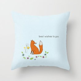 Best wishes to you Throw Pillow