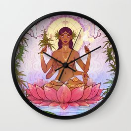 Ganja Goddess Wall Clock