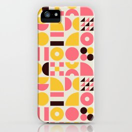 Mid Century Geometric Pattern iPhone Case