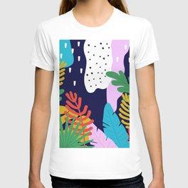 ABSTRACT TROPICAL JUNGLE RAINFOREST PATTERN T-shirt
