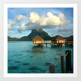 Bora Bora Tahiti Bungalow 2 Art Print