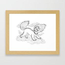 Snow Lion Framed Art Print