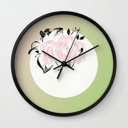 Peonies Bloom Wall Clock