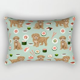 Bichpoo sushi dog breed cute pet portrait pet friendly pattern dog lover gifts Rectangular Pillow