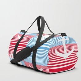 Sailboat and anchor pattern Duffle Bag