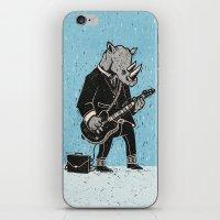 rhino iPhone & iPod Skins featuring Rhino by Ronan Lynam