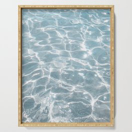 Crystal Clear Blue Water Photo Art Print | Crete Island Summer Holiday | Greece Travel Photography Serving Tray