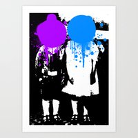psychology Art Prints featuring Twin Psychology by DB & Co.