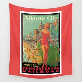 Atlantic city vintage bathing beauty Wall Tapestry