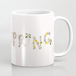 SPRING - Flower Typography Coffee Mug