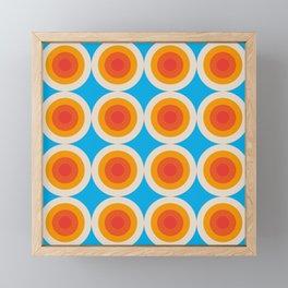 Kauai 16 - Colorful Classic Abstract Minimal Retro 70s Style Graphic Design Framed Mini Art Print