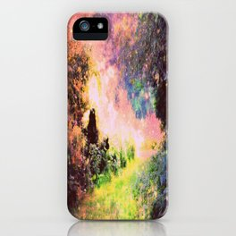 Fantasy Garden Path Deep Pastels iPhone Case