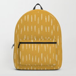 Raindrop Abstract Boho Pattern, Yellow Backpack