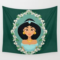 jasmine Wall Tapestries featuring Jasmine by Joey Ellson