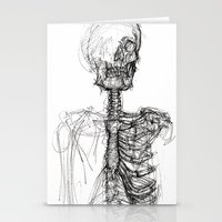 anatomy Stationery Cards featuring Anatomy  by BunnyBrush