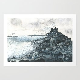 Crashing Art Print
