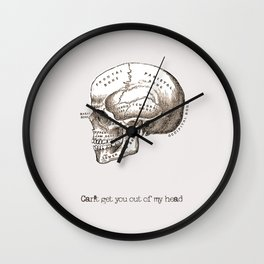 Can't get you out of my head vintage illustration Wall Clock