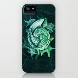 Dystopian Conch - Lambent Green iPhone Case
