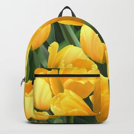 Yellow Tulips Field Backpack