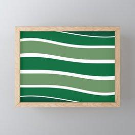 Green Striations  Framed Mini Art Print