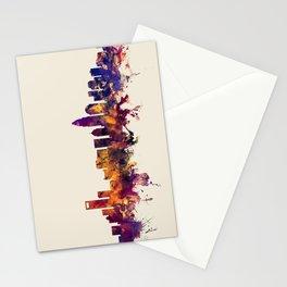 Charlotte North Carolina Skyline Stationery Cards