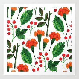 Botanic Watercolor Collection #18 - clove Art Print
