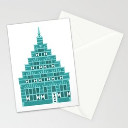 House with corbie gable in Holland blue Stationery Cards