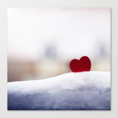 Love and Snow Canvas Print