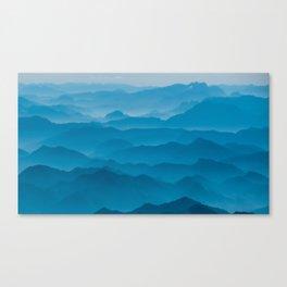 turquoise landscape Canvas Print