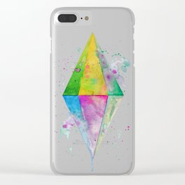 Watercolor Plumbob Clear iPhone Case