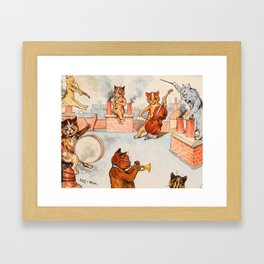 CATS ORCHESTRA - Louis Wain Cats Framed Art Print