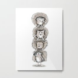 Hedgehog Totem Metal Print